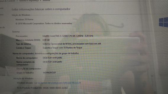 Notebook Dell Preto Core I5 8 Gb