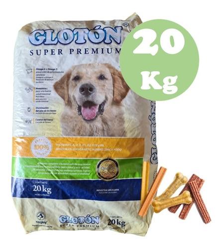 Alimento Para Perros Glotón Plus 20kg + Snack