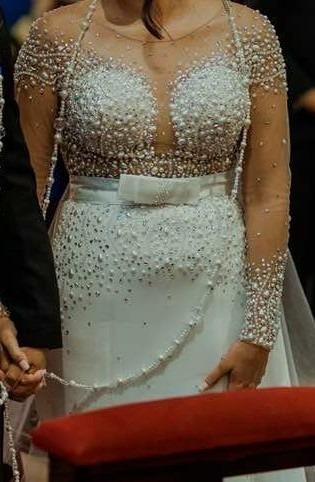 Hermoso Vestido De Novia Realzado Por Un Diseñador. Intacto