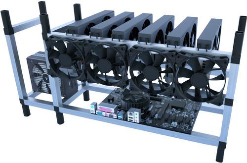 Imagen 1 de 3 de Rig Minero Armado X 6 Placa Video Rtx3060 12g Listo Para Uso