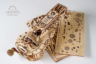 Ugears Zanfoña 3d Puzzle, Modelo De Musical, El Cerebro