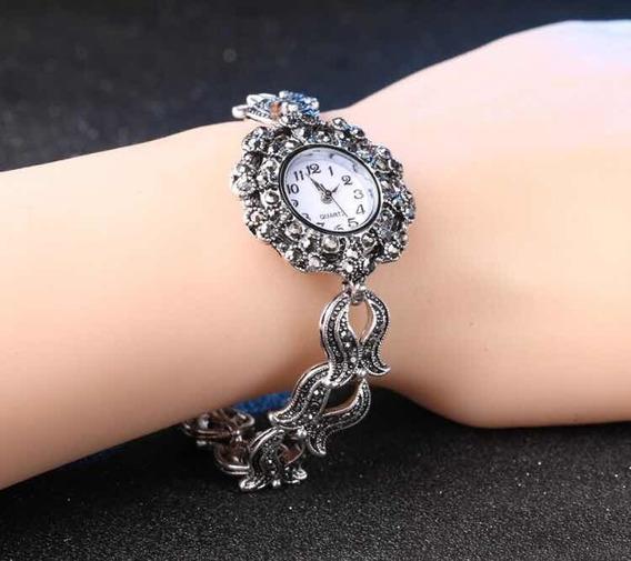 Relógio Prata 925 Com Marcassita 099