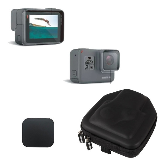 Película Para Gopro Hero 5 6 7 Black Cover Case Transporte