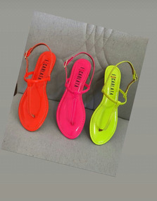 Rasteirinha Neon Florescente Kit 3 Pares Coloridos