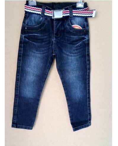 Calça Jeans Infantil Bebe Skinny Para Meninos Tam-1/2-2324
