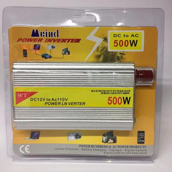 Inversor Conversor Veicular Bateria Dc 12v Ac 110v 500w