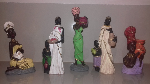 Mulheres Africanas Mini Decoração Em Resina Lote
