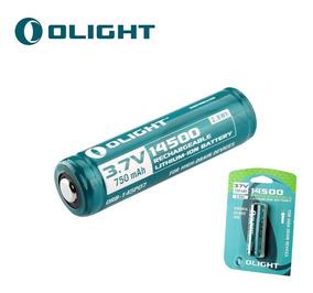 Bateria Olight 14500 750mah Proteção Recarregável Li-ion