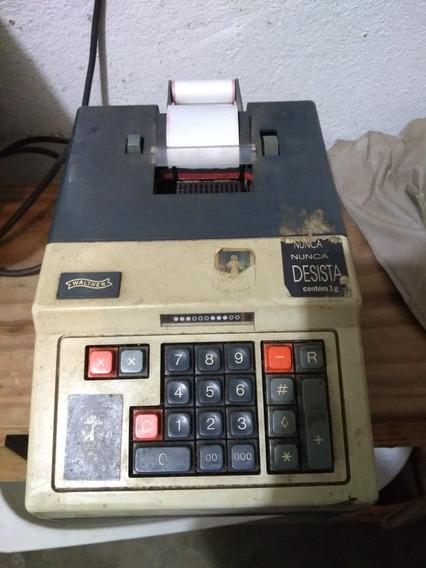 Calculadora Elétrica Registradora Antiga Walther Impressão