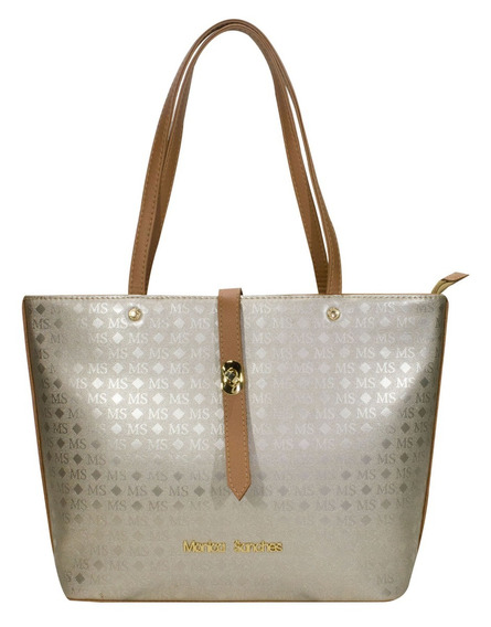 Bolsa Feminina 3117 Ms Transfer Ouro Monica Sanches Original