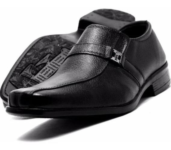 Sapato Masculino Kit 2 Par Mais 1 Cinto Social Em Couro