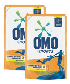Kit Refil Omo Líquido Sports 900ml Com 2 Unidades