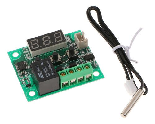 Imagen 1 de 6 de W1209 50-110degree 12v Sensor Termostato Digital