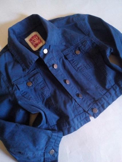 Jaqueta Curta Cropped Azul Bic G