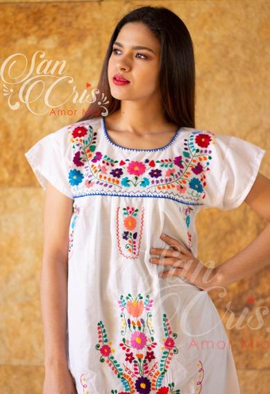 Vestidos Artesanales Bordados A Mano De Algodón, Chiapas.