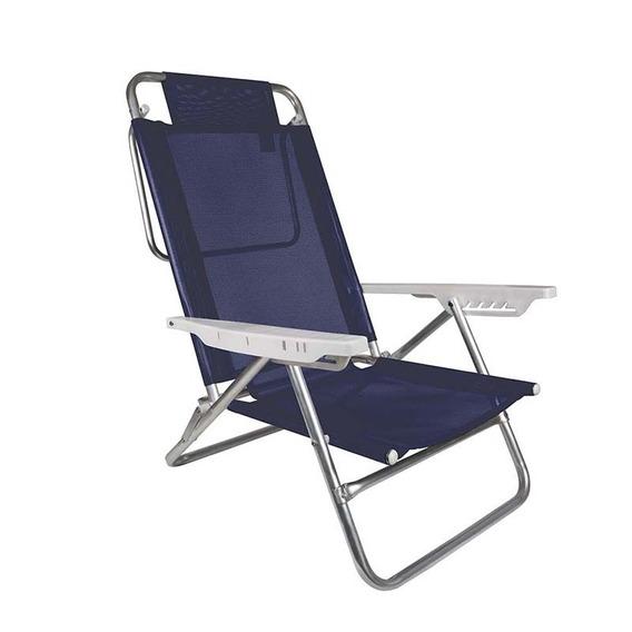 Cadeira Reclinável Sol De Verão Alumínio Mor - Piscina Praia