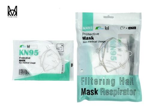 Máscara Kn95 - 5 Camadas De Proteção - Branca - Kit 20 Un