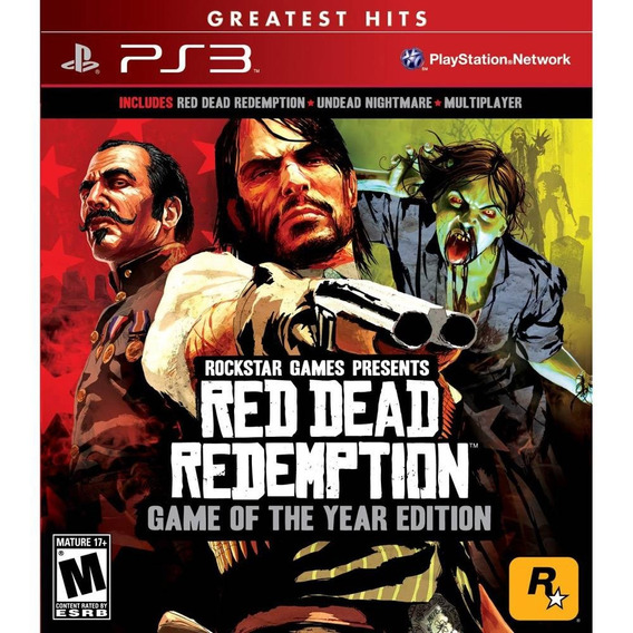 Jogo Red Dead Redemption - Game Of The Year (novo) Ps3