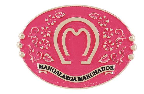 Fivela Mangalarga Com Banho Gold E Rosa Para Montaria