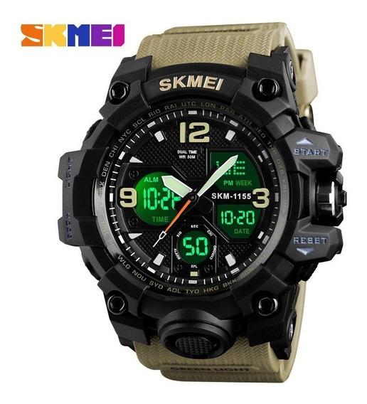 Relógio Masculino Skmei Shock S Camuflado Mostrador Duplo