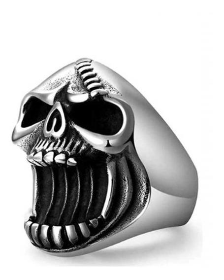 Anel Caveira Abridor De Garrafas Skull Punk Rock Motorcycle