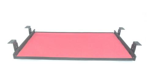 Bandeja Metal Teclado Y Mouse  Con Goma 60 X 35 Cm. Colores