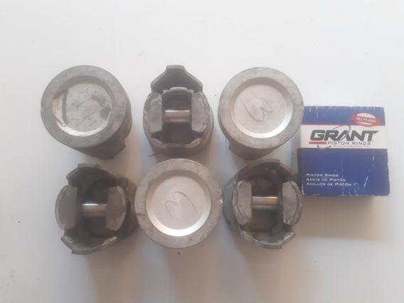 Jogo Pistão C/anéis Opala 6cc Motor 230 250 Metal Leve-0,50