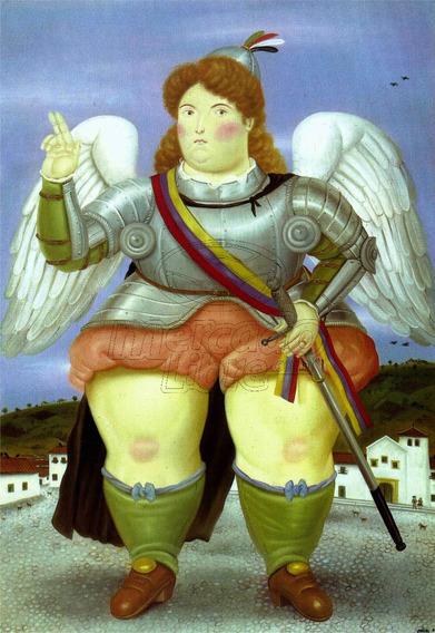 Lienzo Tela Canvas Arcángel Gabriel Fernando Botero 124x85