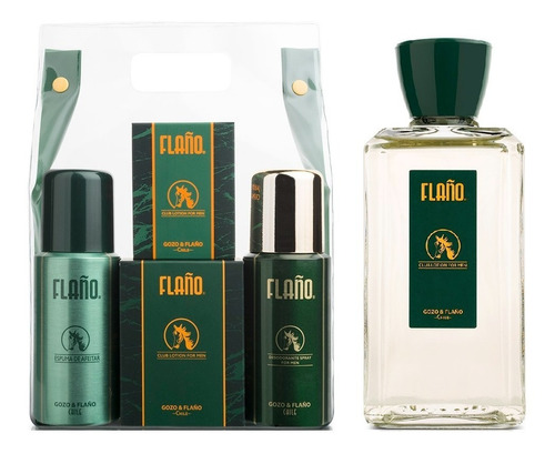 Set Flaño 1 Pack 4 Artículos + 1 Flaño For Men 200ml