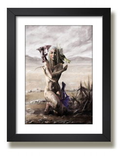 Quadro Game Of Thrones Daenerys Serie Art Decoracao Paspatur