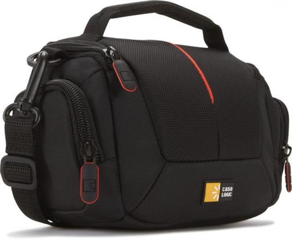 Bolsa P/ Filmadora Compacta Case Logic Preta Com Vermelha -