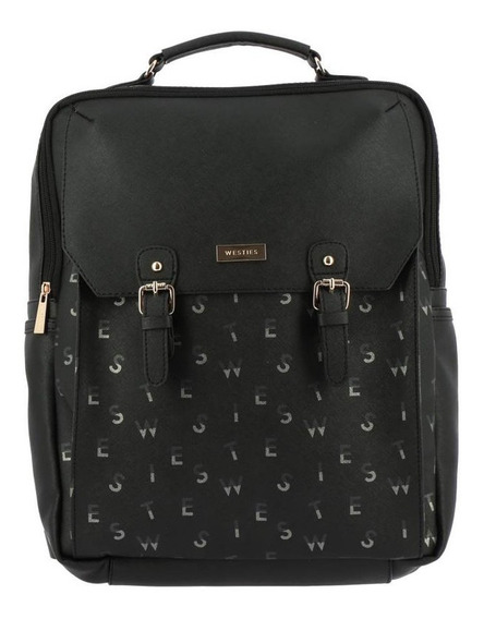 Backpack Westies Hbtabarome3we Negro/multicolor