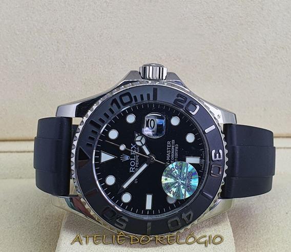 Relógio Acab. Eta - Modelo Yacht-master Dial Preto - 42mm