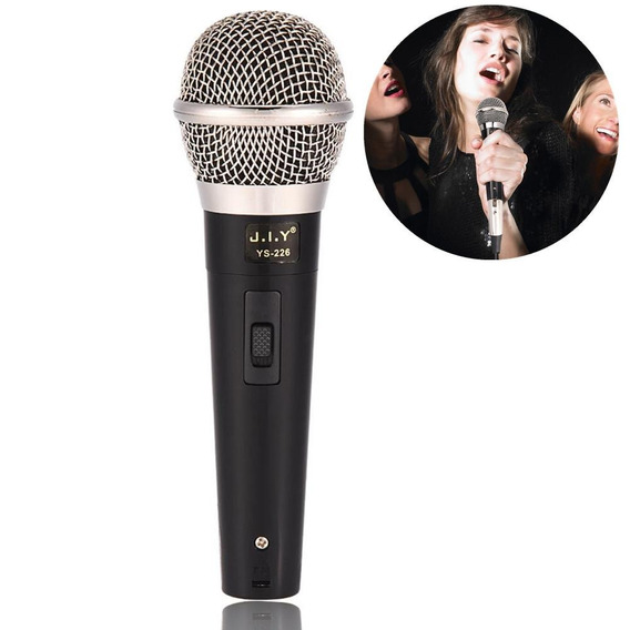 Handheld Profissional Microfone Dinâmico Com Fio Voz Clara