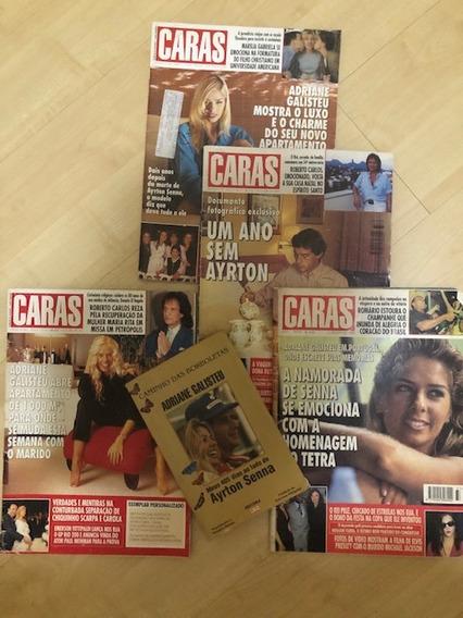 Lote Caras Adriane Galisteu E Airton Senna + Livro Caminho