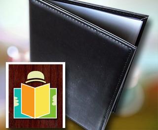 Carta De Menu A4 Simil Cuero Cosida Incluye Folios | Enstock