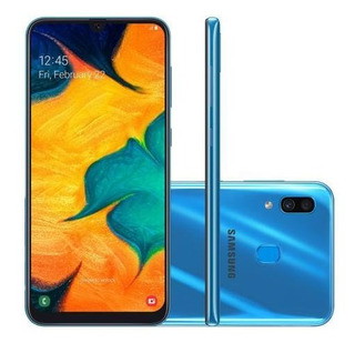 Smartphone Samsung Galaxy A30 64gb Azul 4g-4gb Ram 6,4 Câ