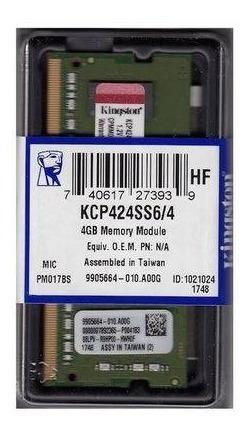 Memoria Kingston Dd4 4gb 2400 Mhz