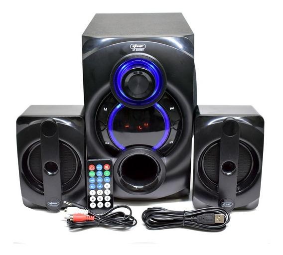 Micro System Caixa Som Bivolt 2.1 Bluetooth 1000w Mp3 Fm Pc