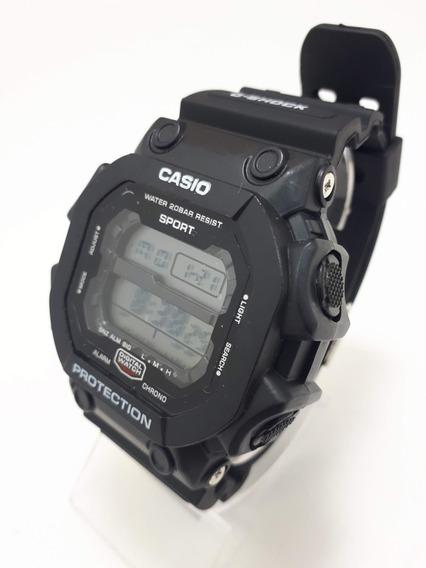 Relógio Borracha Preto Quadrado Caixa Grande Digital