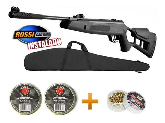 Carabina Pressão Hatsan Striker Edge 5.5 Gas Ram 60 + Kit