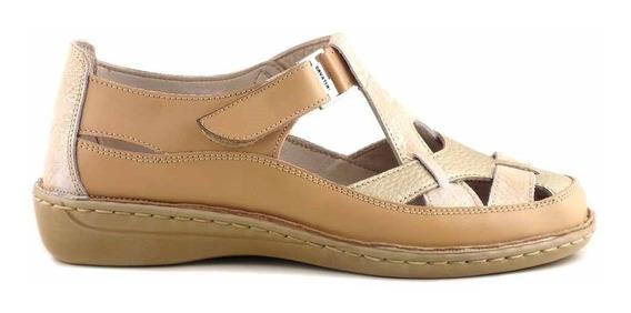 Zapatilla Mujer Cuero Cavatini Zapato Confort Goma Mczp05172