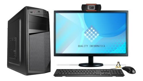 Imagem 1 de 2 de Cpu Intel I5 8gb Hd 500gb Com Webcam E Monitor 19'' Hdmi