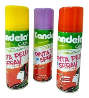 Spray para pelo color azul