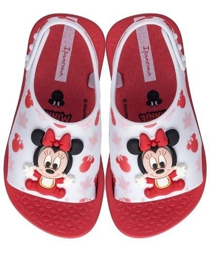 Sandália Infantil Ipanema Love Disney - Vermelha/branca