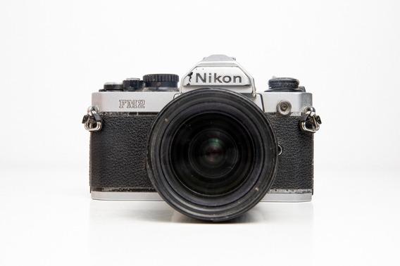 Câmera Fotográfica Nikon Fm2 Com Lente 28-80