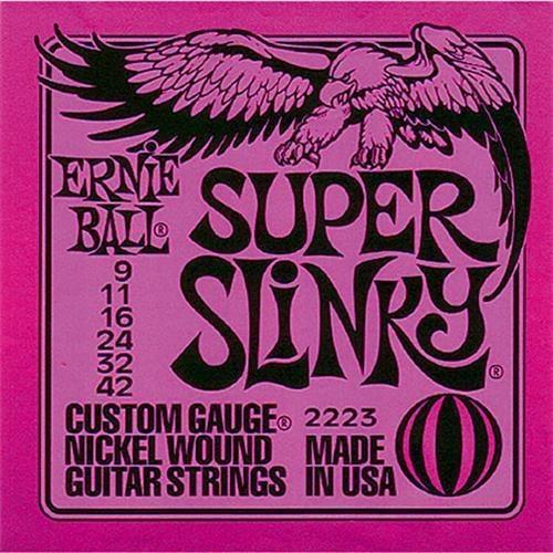 Encordado Guitarra Electrica Ernie Ball 09 Acero Inoxidable