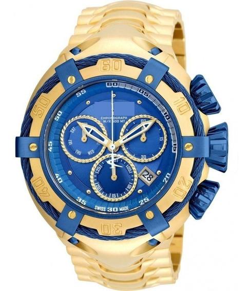 Relógio Pesado Gold Masculino Luxo Zeus Aço Inox Dourado