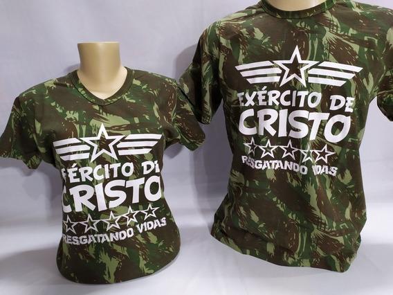 Camiseta Exército De Cristo Cd Brinde