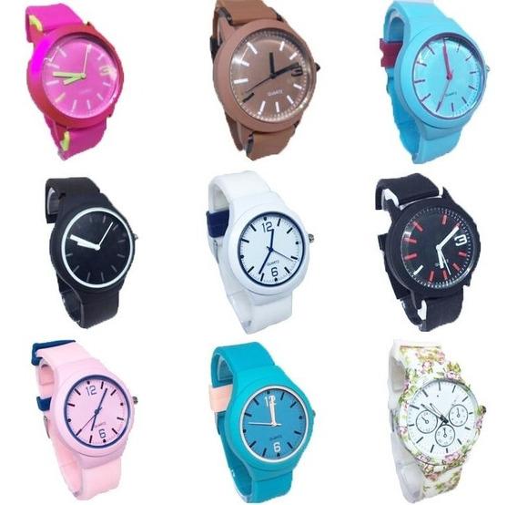 Kit 10 Relógios Silicone Colors Revenda